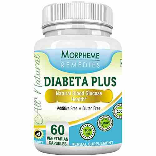 Morpheme Remedies Diabeta Plus 500mg Extract Supplement (60 Capsules Pack Of 6)