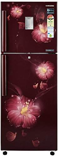 Samsung RT28M3954R3/U3 253L 4 Star Double Door Refrigerator, Rose Mallow Plum