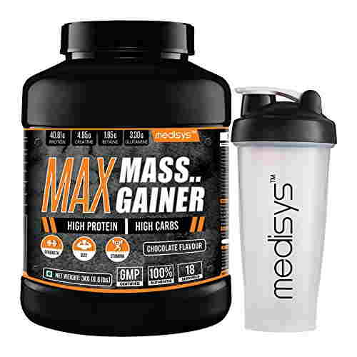 Medisys Max Mass Gainer (3Kg, Chocolate)