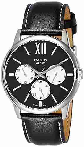 Casio Enticer MTP-E312L-1BVDF (A1204) Analog Black Dial Men's Watch