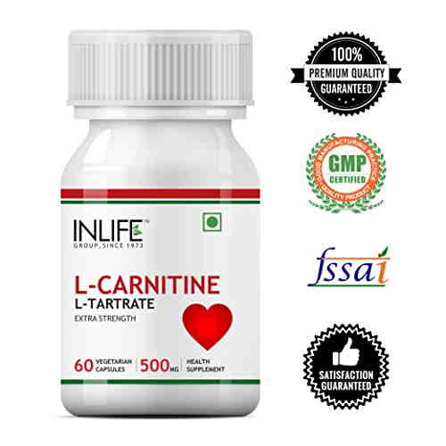 Inlife L-Carnitine L-Tartarate 500mg Supplement (60 Capsules)