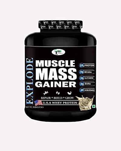 World Nutrition Explode Muscle Mass Gainer (2.27Kg, Vanilla)