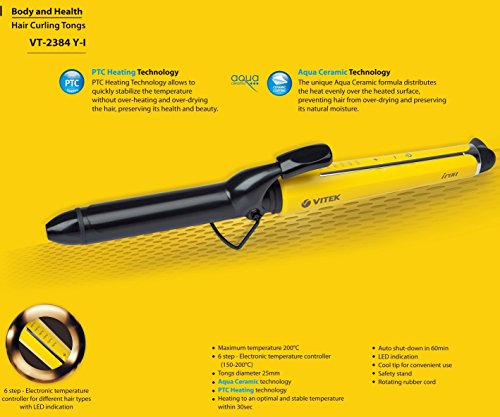 Vitek VT2384 YI Hair Curler