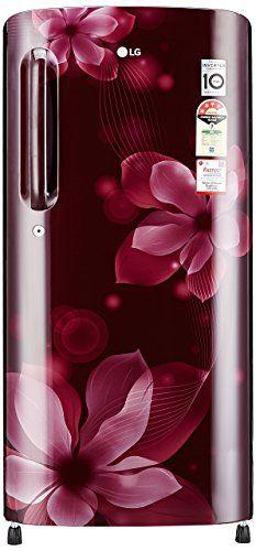 LG GL-B201ASOX.ASOZEBN 190L 4S Single Door Refrigerator, Scarlet Orchid