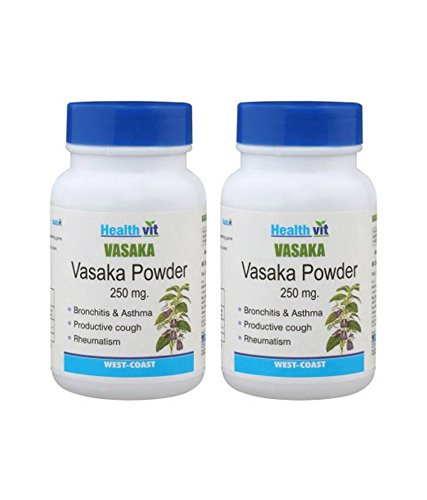 Healthvit Vasaka Powder 250 mg Supplements (60 Capsules) - Pack Of 2