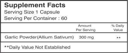 Healthvit Garlin Garlic Powder 300 mg Supplements (60 Capsules, Pack of 2)