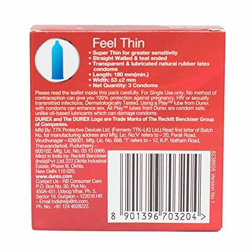 Durex Feel Thin Condoms, 10 Pieces (Buy 2 Get 1 Free)
