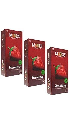 Moods Strawberry Condoms (36 Condoms)