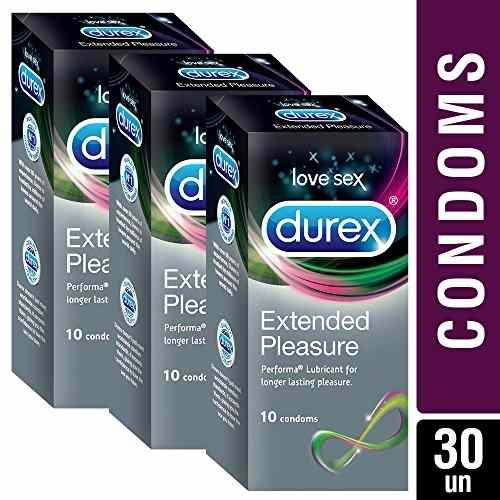 Durex Extended Pleasure Condoms, 10 Pieces (Buy 2 Get 1 Free)