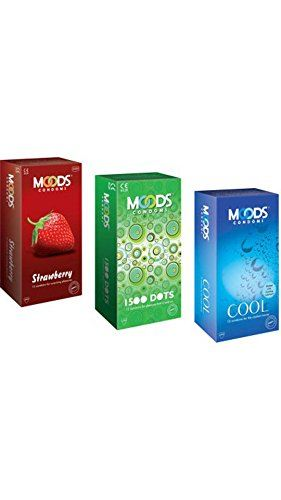 Moods Strawberry Dots and Cool Condoms (36 Condoms)