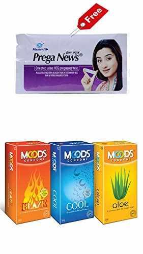 Moods Combo of Blaze Condoms (12 Condoms) Cool And Aloe Condoms (12 Condoms) - Pack of 2