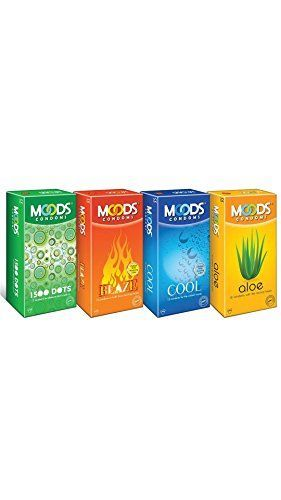 Moods blaze cool 1500 dots and aloe Condoms(48 Condoms )