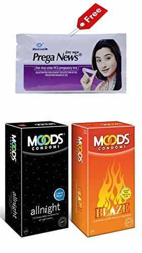 Moods Combo of Blaze And All Night Condoms (12 Condoms) - Pack of 3