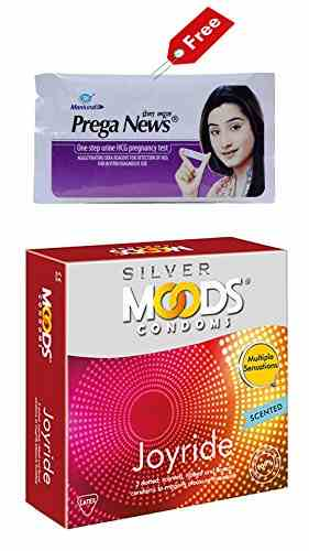 Moods Silver Joyride Scented Condoms (12 Condoms) - Pack of 2