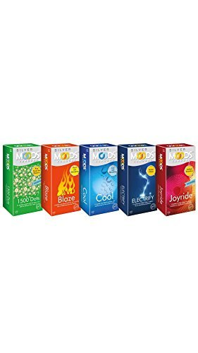 Moods Combo of Electrify Joyride Cool 1500 Dots Blaze Condoms (12 Condoms)