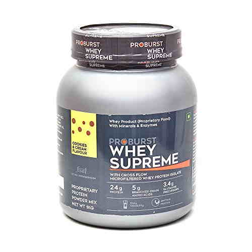Proburst Whey Supreme Protein (1Kg, Cookies and Cream)