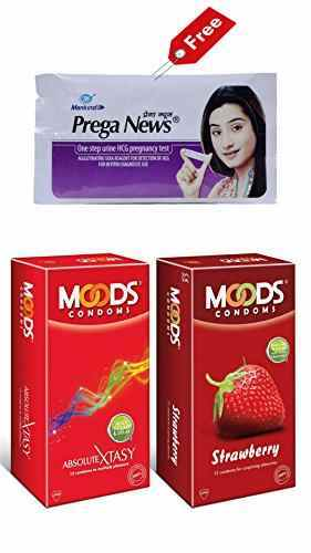 Moods Absolute Xtasy & Strawberry Condoms (12 Condoms) - Pack of 2