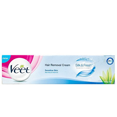 Veet Hair Removal Cream For Sensitive Skin, 100 GM (Buy 2 Get 1 Free)