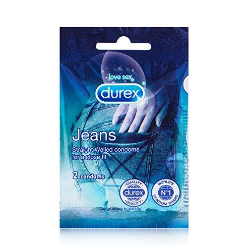 Durex Jeans Condoms Jar 25 Pouches, 50 Pieces