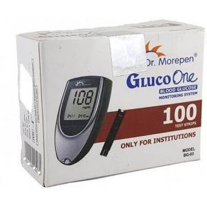 Dr. Morepen BG-03 Gluco One Glucometer Strips (100 Strips)