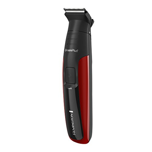Remington PG6157 Head to Toe Lithium Trimmer Kit With Titanium Coated Stainless Steel Blades Black & Red