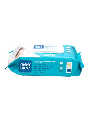 Mee Mee Hand & Mouth Baby Wipes, 72 Pieces