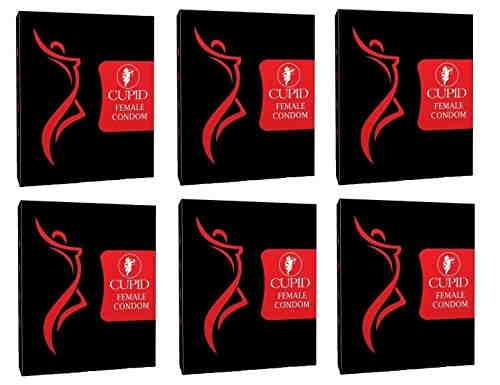 Cupid Female Vanilla Condoms (12 Condoms) - Pack of 6