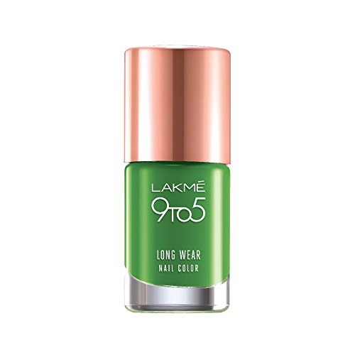 Lakme 9 to 5 Long Wear Nail Color, Green Chic, 9ml