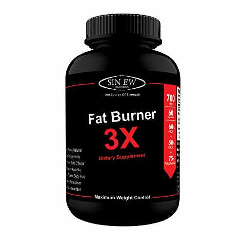 Sinew Nutrition Fat Burner 3X 700mg Supplement (60 Capsules)