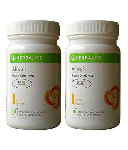 Herbalife Afresh Energy Drink Mix (50g, Lemon) (Pack of 2)