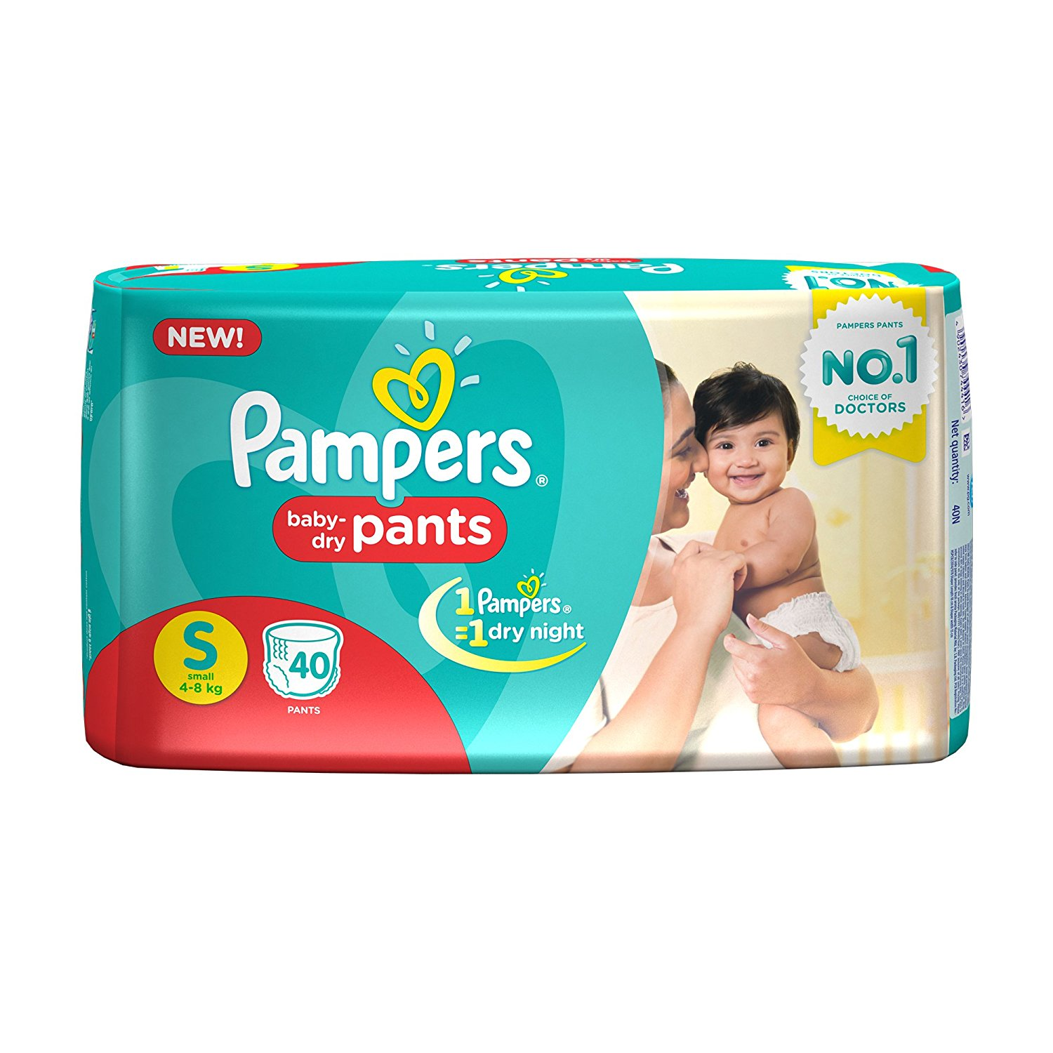 Pampers Pant S Diapers (40 Pieces)
