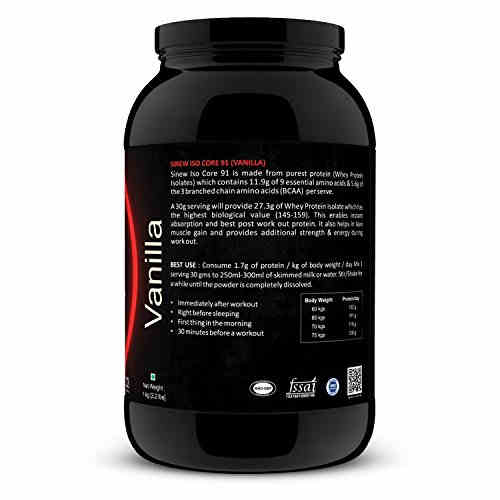 Sinew Nutrition Iso Core 91 Protein (1Kg, Vanilla)