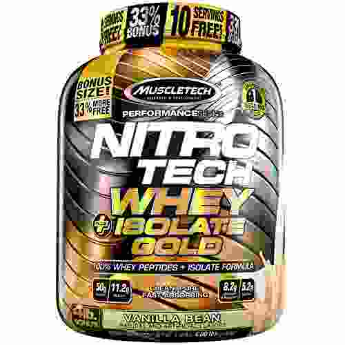 MuscleTech Nitrotech Whey Plus Isolate Gold (1.8Kg, Vanilla Bean)