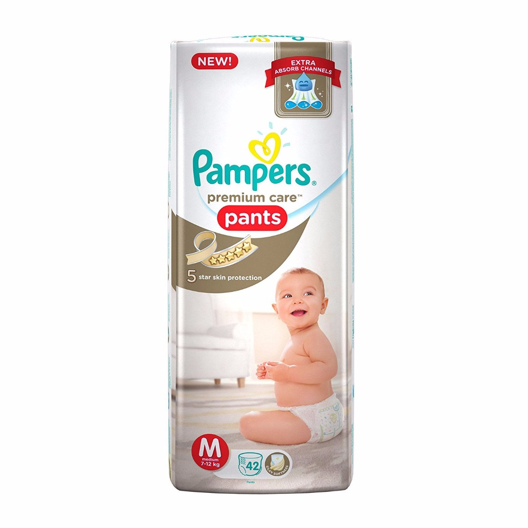 Pampers Premium Care Pant Baby Diapers, M 42 Pieces