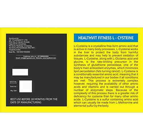 Healthvit L-Cysteine Powder 0.23Lbs
