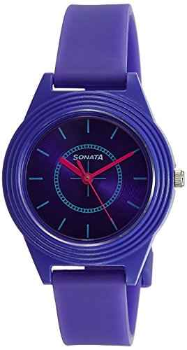 Sonata 87024PP01 Color Pop Analog Purple Dial Girls Watch