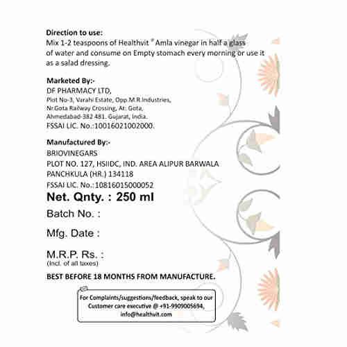 Healthvit Amla Vinegar (250ml)