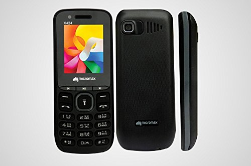 Micromax X424 Black Mobile