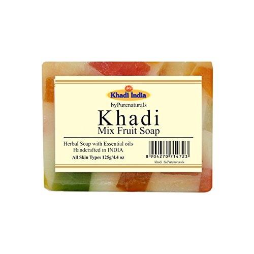 Khadi Mix Fruit Soap, 125 GM (Pack of 4)