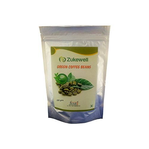 Zukewell Green Coffee Beans (200gm, Pack of 2)