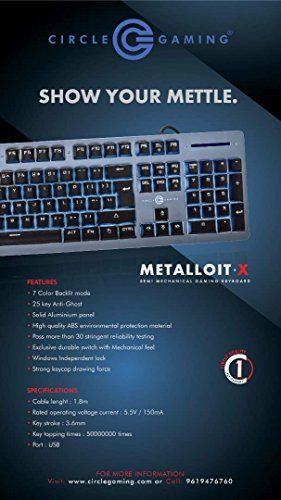 Circle Matalloit X Semi Mechanical Gaming Keyboard