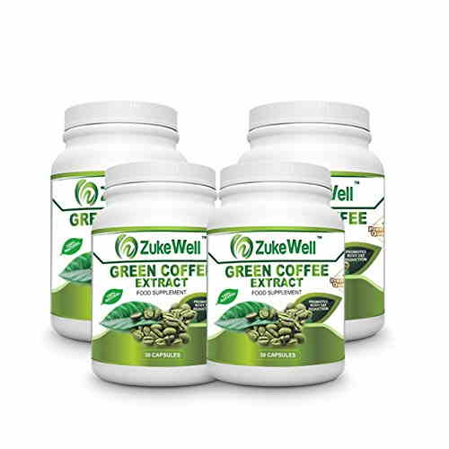 Zukewell Green Coffee Extract Supplement (30 Capsules, Pack of 4)