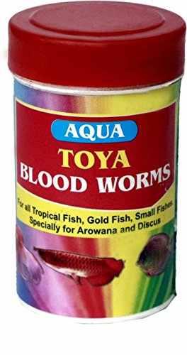 Toya Blood Worms Fish Food (10gm)