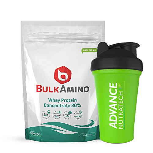 Advance Nutratech Bulk Amino Whey Protein Concentrate 80% Protein (1Kg)