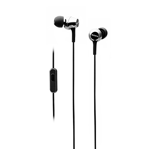 Sony MDR-EX255AP In-Ear Headphones with Mic, Black