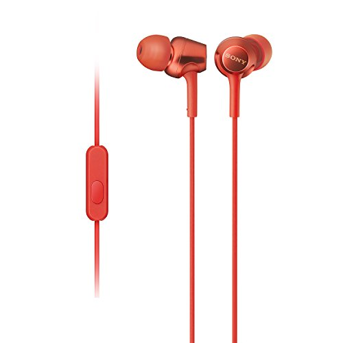 785bed93ed9 Sony MDR-EX255AP In-Ear Headphones with Mic, Red Offers, Coupons & Price in  India - CKS-996-001321