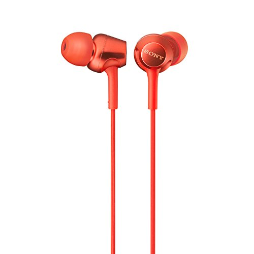 dc61dd3d808 Sony MDR-EX255AP In-Ear Headphones with Mic, Red Offers, Coupons ...