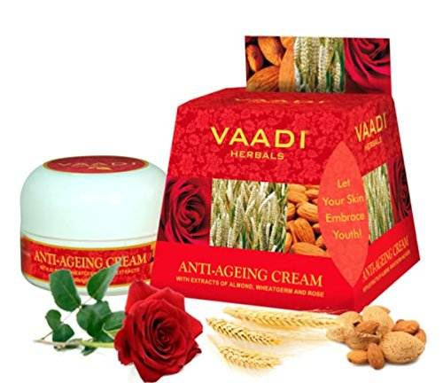 Vaadi Herbals Anti Ageing Almond Wheatgerm Oil & Rose Cream (30gm)
