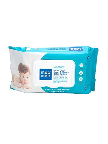 Meemee Gentle Hand and Mouth Baby Wipes, 72 Pieces (Pack of 3)