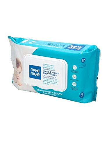 MeeMee Wet Baby Wipes, 72 Pieces (Pack of 2)